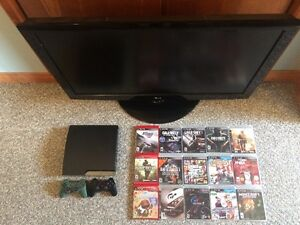 TV + PS3 + 15 GAMES $250 without TV
