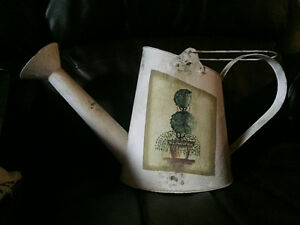 metal watering can decoration