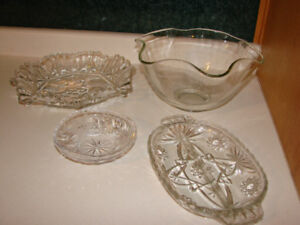Christmas Dinner- SERVING Dishes - glass