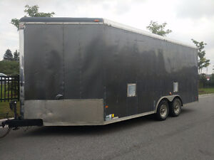 "Custom Contractor 8'.5"" x 18' + 5' V Nose Enclosed - 8' Height"