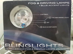 BLINGLIGHTS BL300W  Ultra Bright Fog & Driving Lamps With Blue