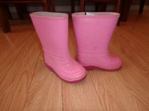 Pink Rain Boots - Child Size 9 Kitchener / Waterloo Kitchener Area image 1
