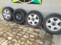 4 used VW rims with tires