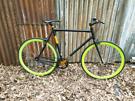 No logo fixie one speed bike 700c wheels, 23 in frame, in good working