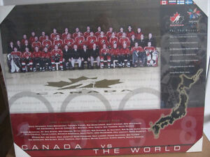 2 Photos bois hockey olympique 1998