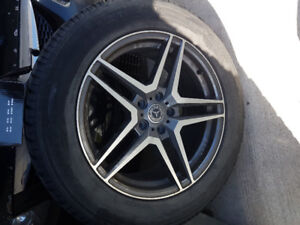 Wheel with winter tire 5x112
