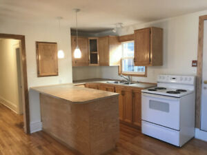 Large top floor Re-finished corner apartment for Rent. march 1