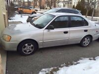 2002 Hyundai Accent Certified Etested LOW kms