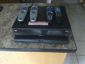 Bell 9241and 3100 receivers for sale with four remotes
