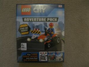 Lego City Adventure Pack Books With Toy (Brand New!)