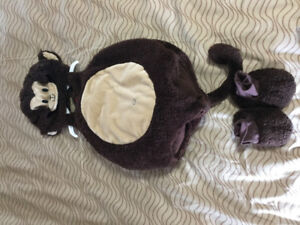 Adorable monkey costume - size 12-18 months