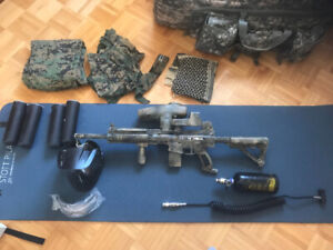 Paintball gears and marker