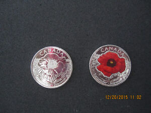 2 Beautifully Minted Canadian Poppies. London Ontario image 1