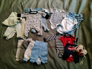 Baby boy Preemie clothing/ vetements pour bebe prematurer