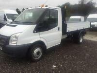 2013 63 FORD TRANSIT 2.2 350 DRW 1D 124 BHP TIPPER DIESEL SINGLE CAB ALLOY