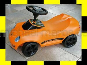 PORSCHE DESIGN Baby Kinder 911 Carrera original BOBBY CAR SONDERFARBE orange BIG