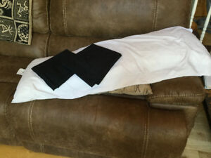 Body pillow with cases