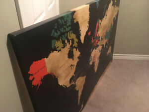 Canvass Print Map of the World