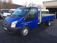 Ford Transit extended frame 13,6 dropside + tail lift 2012 12 Reg