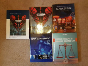 Marketing, Microeconomics, Data Managenment 12, Buisness Law