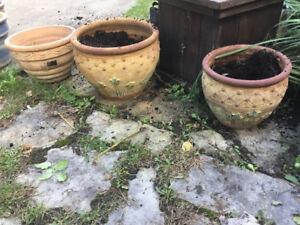 pots pour plantes en grès