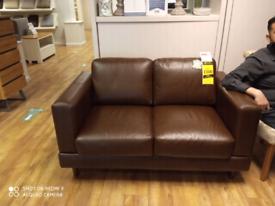 2-seater leather sofa ex display
