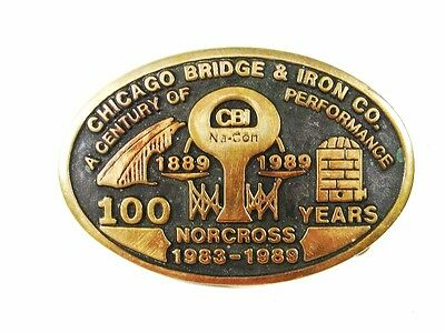 100 Years Chicago Bridge Iron Works Norcross Belt Buckle By Anacortes 5316