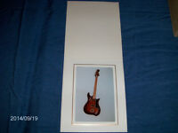 COLOR PHOTO OF ELECTRIC GUITAR-FRAMED-1960/70S-COLLECTIBLE!