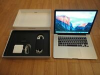 "MacBook Pro Retina 15""   3.6GHz Core i7   512GB SSD   Adobe Cs6, Final Cut, Logic Pro , Office"