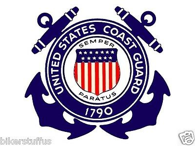 Guard Emblem - VINTAGE COAST GUARD ANCHORS EMBLEM STICKER - US MILITARY 1790 STICKER LAPTOP