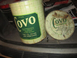 Cool old Tin Covo Vegetable Oil Can. Clean, original Condition. Oakville / Halton Region Toronto (GTA) image 3