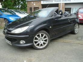 2006 06 PEUGEOT 206 1.6 ALLURE HDI COUPE CABRIOLET 2D 108 BHP DIESEL