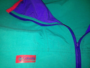 Mens Columbia Vintage 80s Jacket size L wit Radial Sleeve