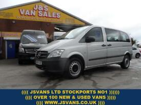 2013 13 MERCEDES-BENZ VITO TRAVELINER COMPACT DIESEL 9 SEATER MINIBUS 59000 MLS