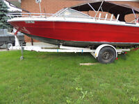 SEA RAY BOAT, MERC CRUISER MOTOR, 20 FT EASY LOAD TRAILER