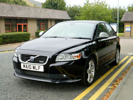 2010 10 Volvo S40 2.0 D R-Design (Premium Pack) 4dr WITH FSH+BLK/WHITE INT+