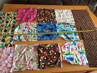 Mix pieces of cotton fabric