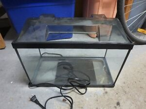 Aquarium Terrarium 5 gallon avec decor gravier