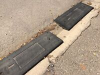 Set of curb ramps