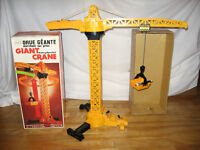 Vintage Sears Giant Crane Battery Operated Toy In Original Box