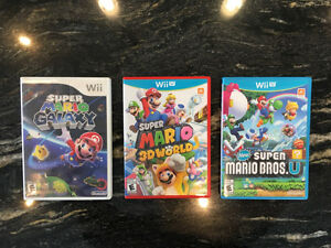 Wii and Wii U Games - Prices Listed