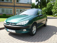 2002 Peugeot 206 1.6 ( dig a/c ) Roland Garros Left hand drive lhd French Reg