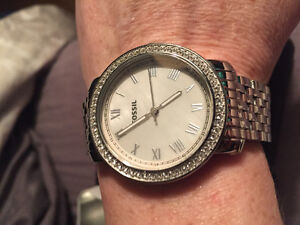 Ladies silver Fossil watch perfect condition