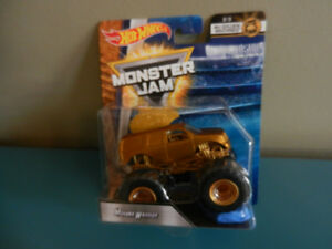 Hot Wheels Monster Jam Mohawk Warrior Treasure Hunt Gold Machine