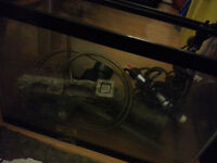 fish tank with bio filter and some fish food 5-10 gallon