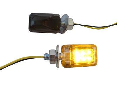 Black Micro Mini E-marked LED Indicators Turn Signals Motorcycle Motorbike Quad