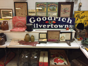 Antique auction - Sat Nov 25th, signs, pottery, local items A+++