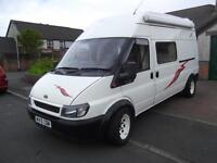 2002, FORD TRANSIT CAMPER VAN, 2 BERTH, BATHROOM TOILET, LWB