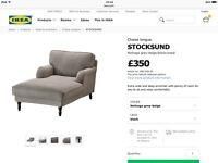 Ikea stocksund chaise