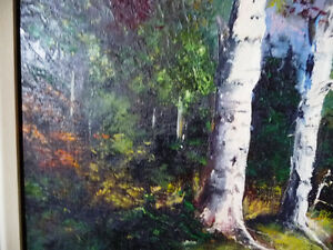 "Original Oil Painting by E. Tyson ""Forest Study"" 1976 Stratford Kitchener Area image 8"